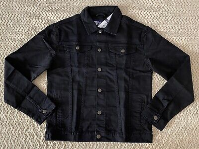 NWT Men's RND Denim Classic Black Button Down Denim Jean Jacket ALL SIZES S-2XL