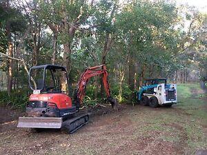 3 tonne excavator / bobcat combo hire Redlands Capalaba Brisbane South East Preview