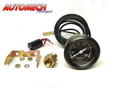 Tim 52mm Mechanical Water Temp, Temperature Gauge KIT + Fitting & Pipe (700004)