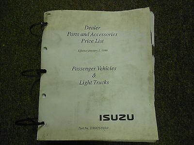 1999 ISUZU Dealer Parts and Accessories Price List Service Manual BINDER EDI OEM