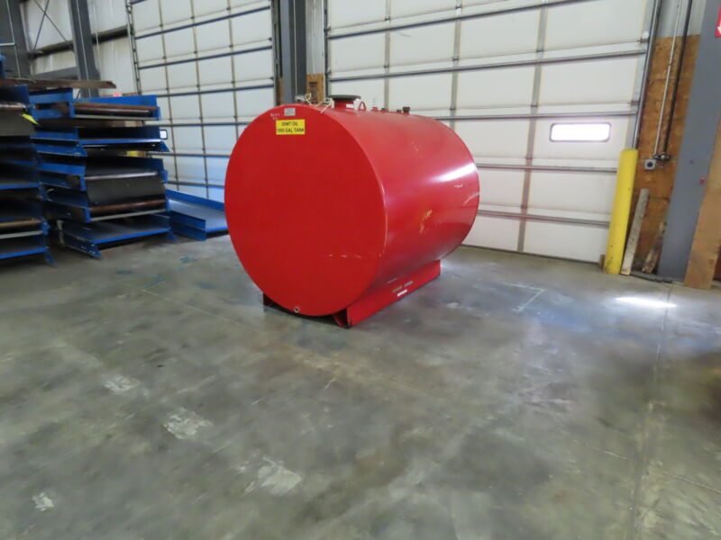 "1000 Gal Fuel Oil Gas Diesel Storage Tank Single Wall Steel Skid Tank 64""x73"""