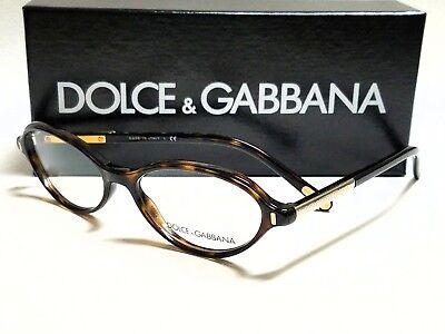 New Authentic DOLCE & GABBANA DG3105 502 Tortoise 52/16/135 Rx Eyeglasses