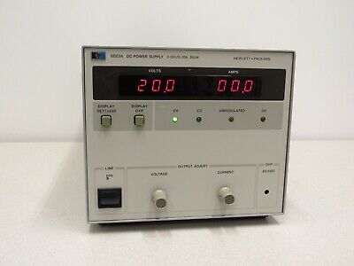 Hp Hewlett Packard Agilent 6023a 20v 30a 200w Autoranging Dc Power Supply