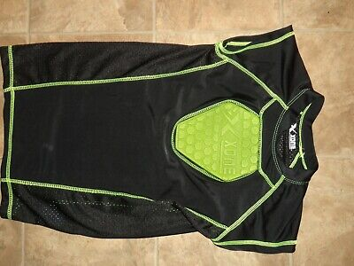 Boy's Xone Padded Chest Protector Baseball Shirt Black/Lime Med NWOT Chest Padded Baseball Shirt