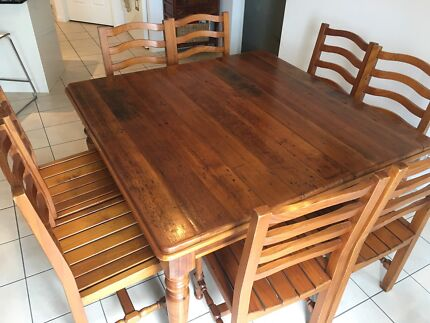 Rosebank Cottage Furniture Table and 6 ChairsDining Tables