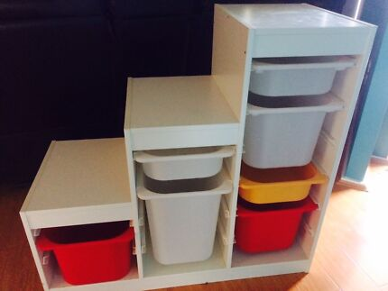 Trofast IKEA storage system with tubs