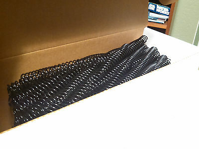 Plastic Spiral Binding Coil 14mm Black 12 41 Pitch 100pk Binder New Open Stock