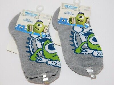 Monsters University Socks Toddler TWO Pairs Size 6 - 8.5