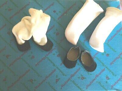 "Original Black Shoes & Socks for 8"" Madame Alexander dolls 2 pairs  #1"