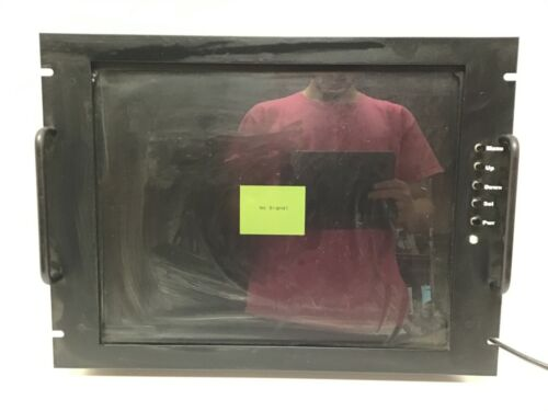 """19"""" RackMount SVGA LCD Color Monitor Black TESTED Model RDF-19AX-S01"""
