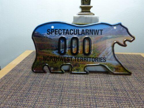 Northwest Territories Polar Bear License Plate SAMPLE