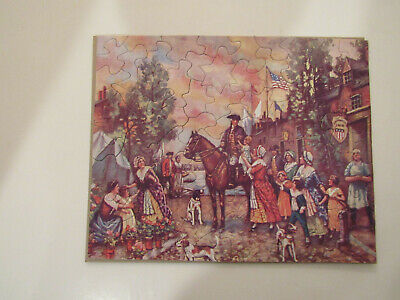"Vintage ADVERTISING JIG SAW PUZZLE. ""WASHINGTON OFF TO WAR"" complete"