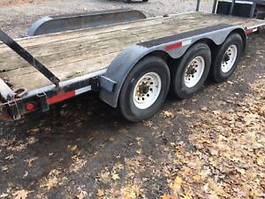18' Triaxle Equipment hauler trailer float with ramps