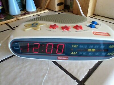 Vintage 1990 Playskool PS-360 Alarm Clock for Kids AM-FM Radio, tested