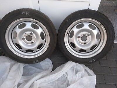 Gebraucht, Smart 451 Fortwo 2014 Stahlfelgen 2x hinten 175/55R15 Sommerreifen Bridgestone gebraucht kaufen  Köln