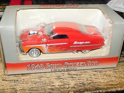Snap on 1949 Ford Street Rod 1:38 scale replica toy model red crown PREMIUMS