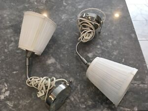 Two ikea wall lamps