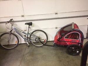 Ladies bike and trailer $200 for both or $100 each