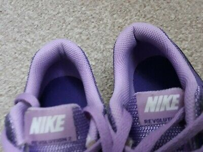Purple NIKE  Revolution shoes trainers girls gym school running size 3 3.5 lady