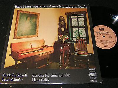 EINE HAUSMUSIK BEI ANNA MAGDALENA BACH Schreier / DDR LP 1990 DMM ETERNA 726819