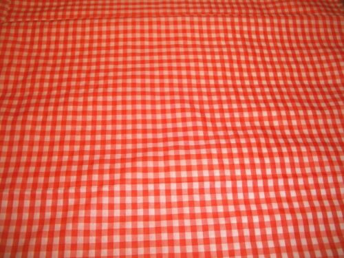 Vintage Cotton Orange Gingham 5 Yds