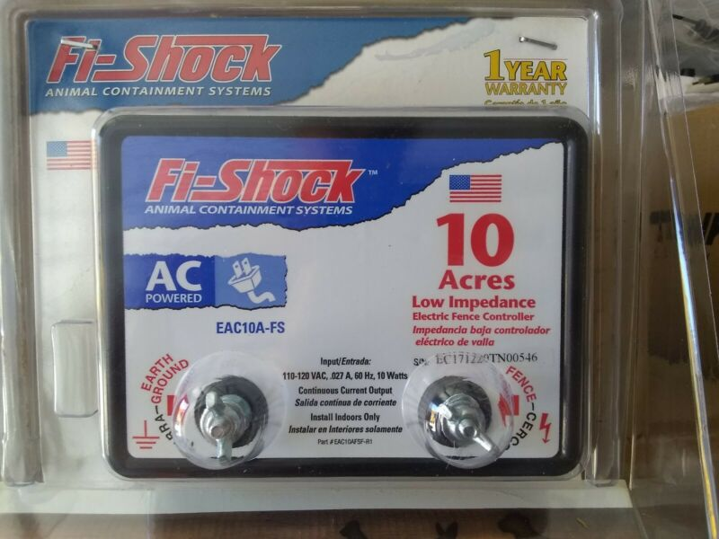Fi-Shock EAC10A-FS Electric Fence Energizer 10-Acre Free Shipping