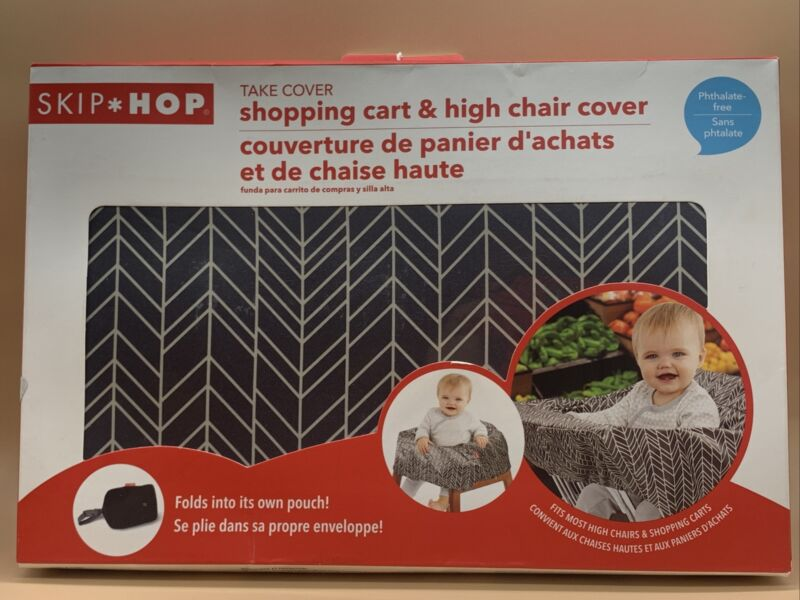 Skip Hop Take Cover Cart/High Chair Cover New - Colorway Feathers NIB