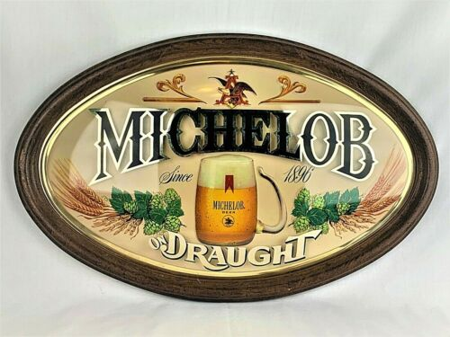 Michelob Draught Beer Bubble Sign Man Cave Decor