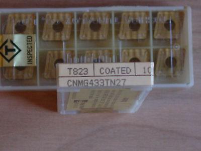 10 Pcs. Cnmg 433 Toshiba Tungaloy Tn27 T823 Carbide Inserts Coated