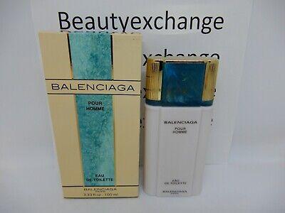 Balenciaga Pour Homme Cologne Eau De Toilette 3.33 oz Boxed