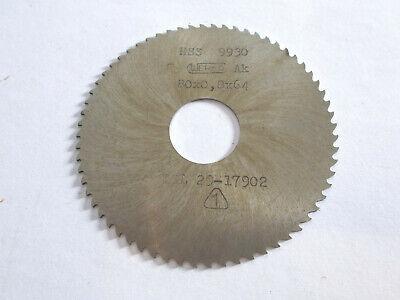 Scheibenfräser , Metall- Kreissägeblatt  80 x 0,8  mm , 64 Zähne , HSS