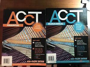 ACCT Financial and Managerial textbooks Greystanes Parramatta Area Preview