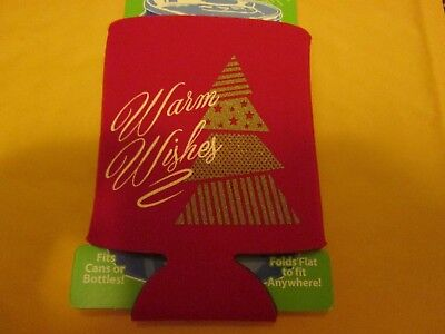 Can Coolie Keeps Drinks Cold Holiday Christmas Tree Warm Wishes Cooler New