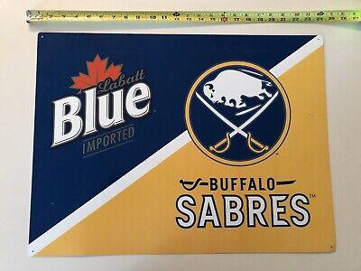 Labatt Blue Buffalo Sabres Tin Beer sign