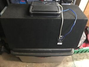 MTX audio subwoofer and alpine amplifier