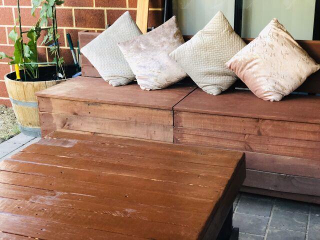 Rustic handmade outdoor pallet furniture set   Lounging ...