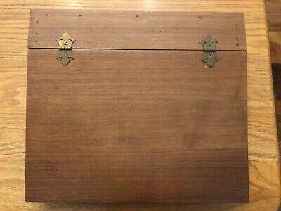 Ind. Half Round Wood Souvenir Box  from Michigan City JewelryTrinket Box