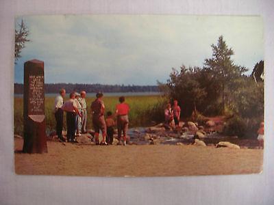 Vintage Photo Postcard Headwaters Of Mississippi River Bemidji Minnesota 1958