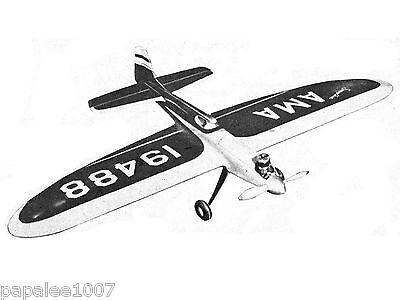 "Model Airplane Plans (UC): Smoothie 51"" Stunt .29-.35 by Bob Palmer (Veco 1952)"