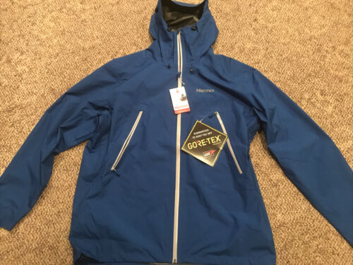 NWT MARMOT SHELL KNIFE EDGE 31170 GORTEX BLUE MENS JACKET $2