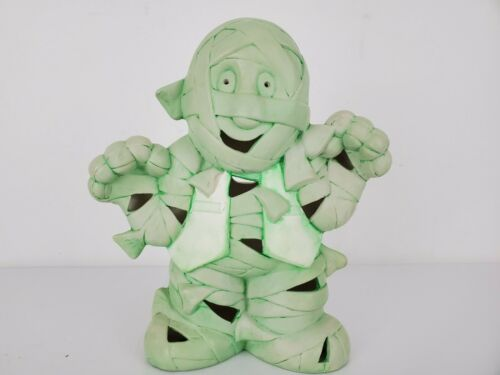 Green Ceramic Mummy - Halloween Decoration - Fall Season Autumn