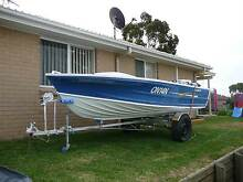Restored 4.3m Quintrex tinny with motor and trailer Parkdale Kingston Area Preview
