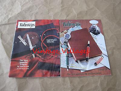 Vintage Lot of 2 The Fahrneys Pen Catalogs (1995/96, 1998)