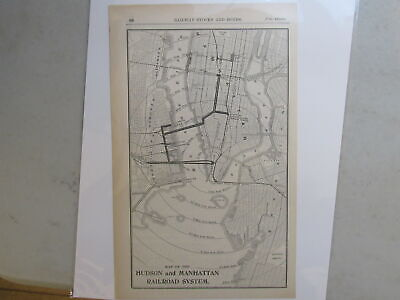 Original map of the Hudson and Manhattan Railroad System ~ 1906