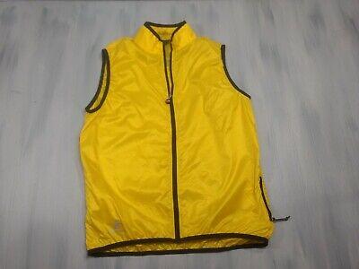 HINCAPIE Yellow Wind Vest Cycling Mens Medium  Windproof Packable Mens Cycling Vest