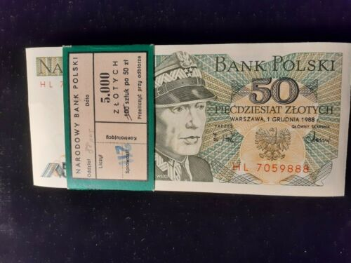 1988  50 ZLOTYCH  POLAND  P 142  LOT OF 88 PIECES