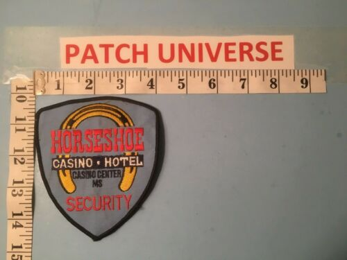 HORSESHOE MS CASINO SECURITY  SHOULDER  PATCH  PO53