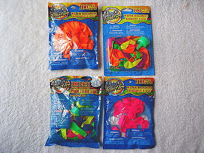 """Lot Of 4 Packs Of Water Balloons,3 """" NIP """",1 Opened """" GREAT FOR HOT SUMMER DAYS"""