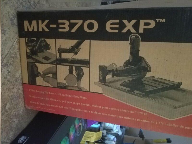 "MK DIAMOND  MK-370EXP 1-1/4"" HP,  7"" WET CUTTING TILE SAW"