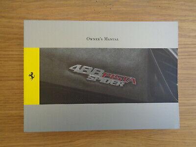 Ferrari 488 Pista Spider Owners Handbook/Manual